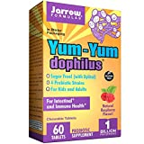 Jarrow Formulas Yum-yum Dophilus 120 Chewable Tablets, 1 Billion Per Serving (Pack of 3) Shipped with Ice Pack