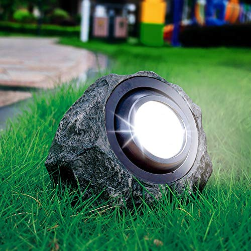 Luce di roccia del paesaggio,2 luci a colori alimentate a energia solare da giardino Lampade a LED impermeabili decorative per esterni per decorazioni,terra,vialetto,via,passerella,cortile,patio