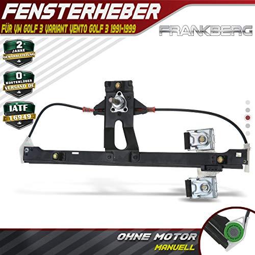 Frankberg Fensterheber Ohne Motor Hinten Links für Golf III Golf III Variant Vento 1H1 1H2 1H5 1991-1999 1H4839401E