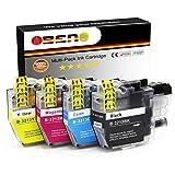 OBENO - 1 Set - LC3213 4 Paquetes de Cartuchos de Tinta compatibles para Brother LC3213 MFC-J890DW, MFC-J895DW, DCP-J772DW, DCP-J774DW, DCP-J572DW (1 Negro, 1 Cian, 1 Magenta, 1 Amarillo)