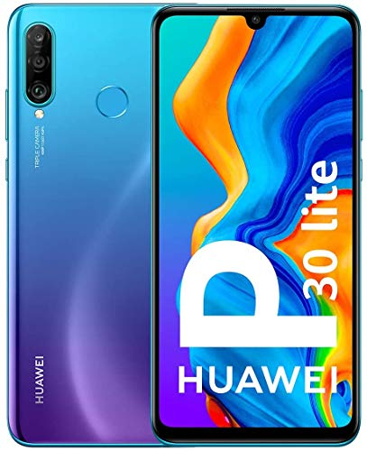 Huawei P30 lite Dual-SIM Smartphone Bundle (6,15 Zoll, 64 GB ROM, 4 GB RAM, Android 9.0) Peacock Blue