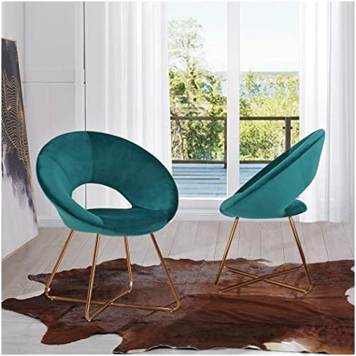 Duhome Modern Accent Velvet Chairs Dining Chairs Single Sofa Comfy Upholstered Arm Chair Living Room Furniture Mid…