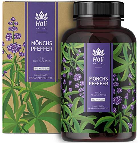 Holi Natural® Mönchspfeffer Extrakt - 180 vegane Kapseln - 15mg pro Kapsel (180 Kapseln)