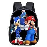 Bonamana Super Mario Bros - Mochila escolar impresa en 3D, mochila de viaje