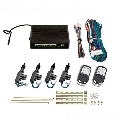 SLPRO Zentralverriegelung, Komplett Set, 4-türig, l. 2 Funkfernbedienungen, 4 Stellmotoren
