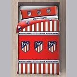 Atlético de Madrid Funda Nórdica 2 Piezas (Funda Nórdica y Funda de Almohada) (135 cm)