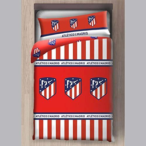 Atlético de Madrid Funda Nórdica 2 Piezas (Funda Nórdica y Funda de Almohada) (150 cm)