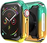 ZLRFCOK Coque souple en TPU pour Apple Watch 6 5 4 SE 44 mm 40 mm Protection d'écran en caoutchouc...