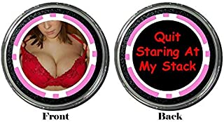 Card Guard - Quit Staring at My Stack Protector Holdem Poker Chip/Card Cover