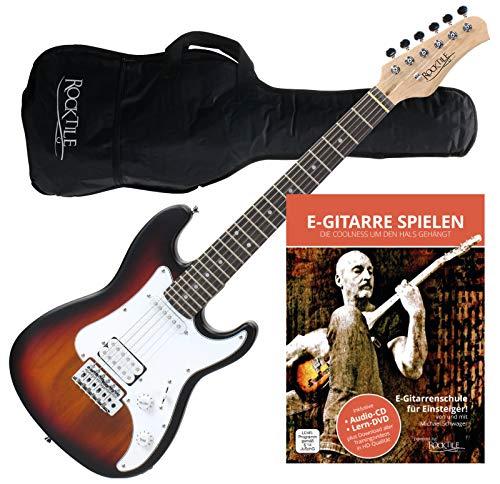 Rocktile Sphere Junior Guitarra eléctrica 3/4 Sunburst con método de aprendizaje