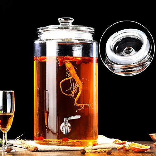 CSQHCZS-FQ Loodvrije verdikte drank drank drank dispenser, glas drank Dispenser met loodvrije spigot afdichting deksel brede fles mond, voor partijen/bruiloften/horeca/evenementen ++