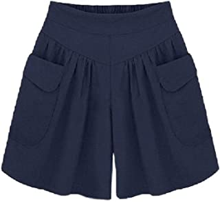 HEFASDM Women's Plus Size Mid Length Short Casual Loose Elastic Waist Panties