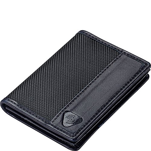 Lewis N. Clark Ballistic Nylon RFID Wallets for Women + Men, Travel Accessories 2 Credit Card Slot, 1 ID Sleeve Wallet, Black