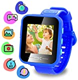 Toys for 4-8 Year Old Kids Binteng Smart Watch for Kids smartwatch with Camera Pedometer USB Charging Kids Watches Games Best Christmas Birthday Gifts for Boys Girls (Dark Blue)