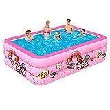 260 x 165 x 55 cm piscina rectangular hinchable – 50 más gruesa que otros en el mercado – Suelo suave para bebés, niños y adultos Kiddie – Altura ajustable