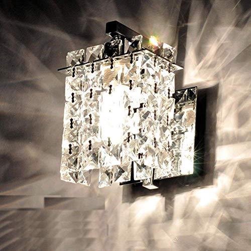 LED Wandleuchte Innen Kristall Wandlampen Lampe E14 Lampenschirm zum Haus Bar Restaurants Café Büro(Keine Glühbirne)