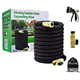 Mozing Expandable Garden Hose - Heavy Duty Flexible Expanding Hose with 3/4 Solid