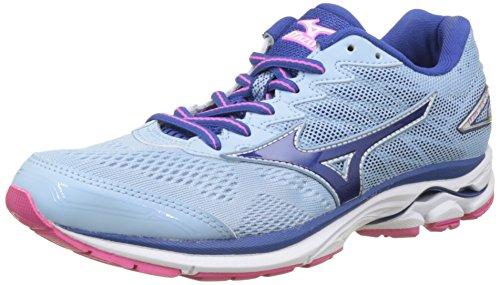 Mizuno Wave Rider W, Zapatillas de Running para Mujer, Multicolor (Angelfalls/Trueblue/Electric), 36.5 EU