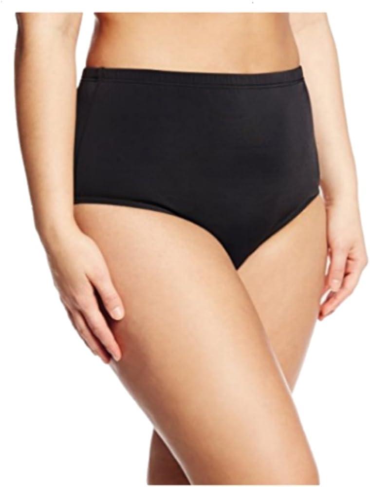 Fit 4 U Women's Plus Size Solid Swim Brief Bikini Bottom