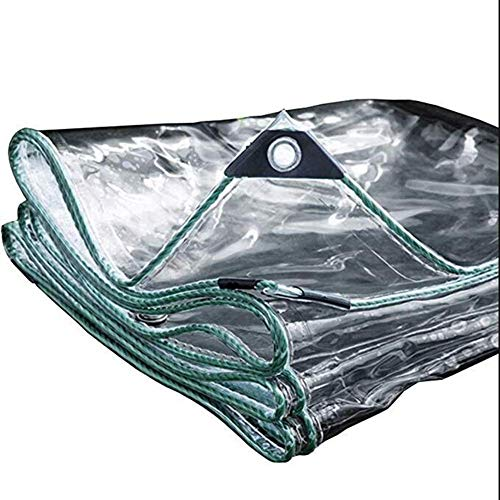 ZJN-JN Flower Shelves Flower Stand Waterproof Transparent PVC Rainproof Thickened Cloth 0.12mm Balcony Dust Metal Cover Buckle, 22 Sizes, Customizable (Color: Clear, Size: 3x8m) Pot Ornaments