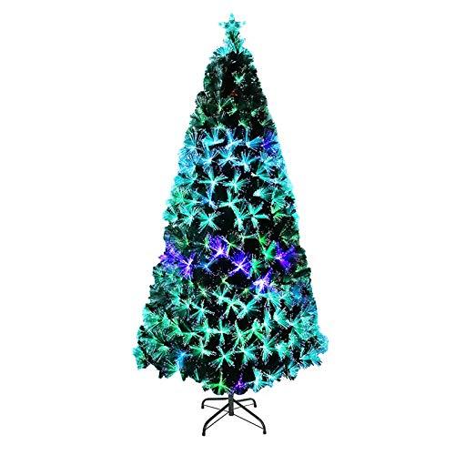 UISEBRT Albero di Natale Artificiale Illuminato 240cm - Albero di Natale con Fibra Ottica a LED Che Cambia Colore (240cm, Fibra Ottica Colorata)