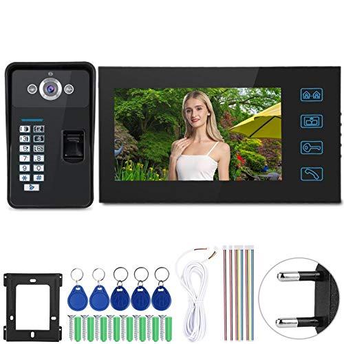 Okuyonic Timbre RFID con Huella Dactilar, para Seguridad en el hogar, para línea de TV IR-Cut 1 / 3inHD 1000(European regulations)