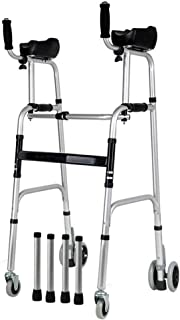 Walker For Seniors Rollator Walker Folding Stand-Assist With Arm Rest Pad 4 Wheel Rollator Padded Seat Mobility Aids Adjus...