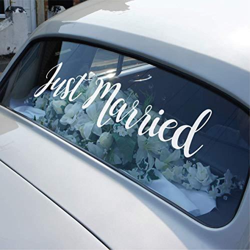 Calcomanía de vinilo extraíble para coche de boda de Just Married, tipo...