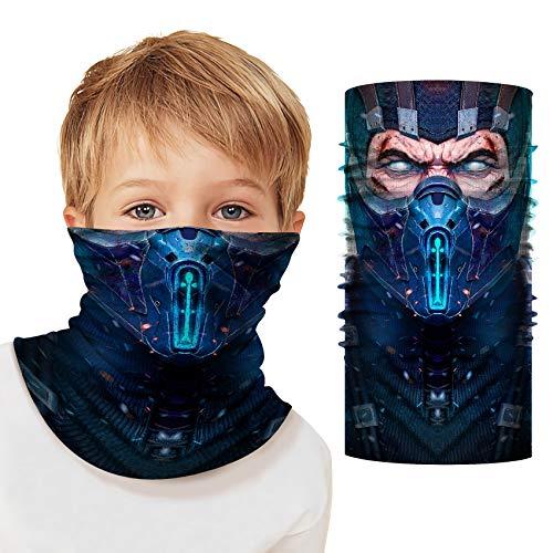 Superhero Gaiter Face Mask Kids Face Scarf Animal Neck Gaiter Cosplay Helmet UV