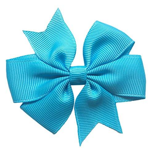 Yihaifu Las Vendas de los bebés Colorido y Arco de la Venda Azul bifurcado Cola Arco de Rosca Pinzas de Pelo de la Cinta