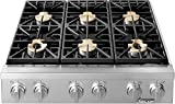 Dacor Heritage 36' Stainless Steel Natural Gas Cooktop