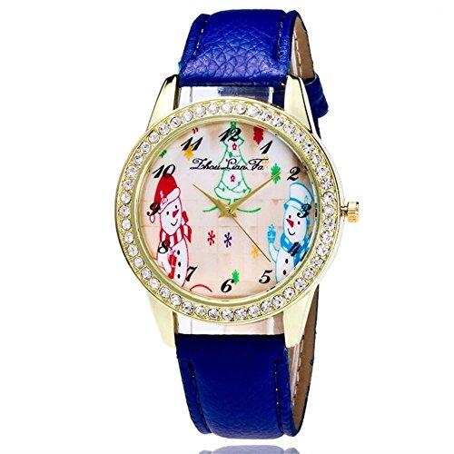 SSITG Mujer Reloj De Pulsera Cuarzo Banda de Cuero Brillantes Árbol de...