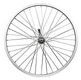 "26 Inch Rims & Wheels - Flying Horse Heavy Duty 12 Gauge Coaster Brake Rear 26"" x 1.5"" Bicycle Rim Set – Gas Bike HD Rim Upgrade (Silver)"