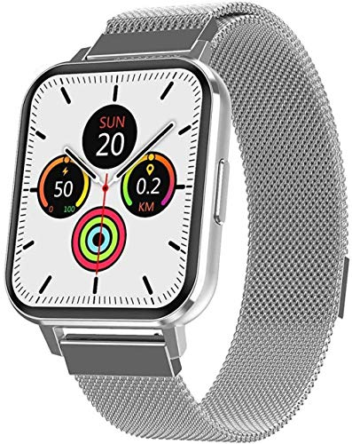 SHIJIAN Reloj inteligente impermeable de los hombres inteligentes de la moda, 1.75 pulgadas pantalla grande multi-deportes modo mano enlace día regalo reloj
