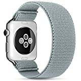 ZALAVER Stretchy Solo Loop Elastic Bands Compatible with Apple Watch 42mm 44mm, Stretch Braided Sport Elastics Wristband Compatible with iWatch Series 6/5/4/3/2/1 SE Women Men Small