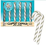 Archie Mcphee Clamdy Candy Canes 3.8 Oz! Six Clam-Flavored Candy Canes! Gray And White Stripes Colorful Sweets! Tastes Like A Can Of Clam! Choose Your Flavor! (Clam)