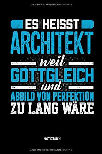 Notizbuch: Lustiges Architekt Notizbuch mit Punktraster. Tolle Zubehör & Architekten Geschenk Idee.