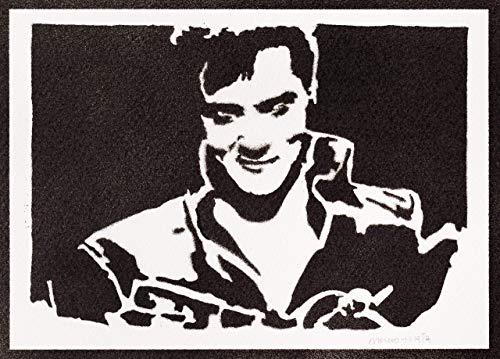 Elvis Presley Poster Plakat Handmade Graffiti Street Art - Artwork