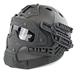 H World Shopping Tactical Protective Helmet Full Face Mask Googgles G4 System Airsoft Paintball Solid Color...