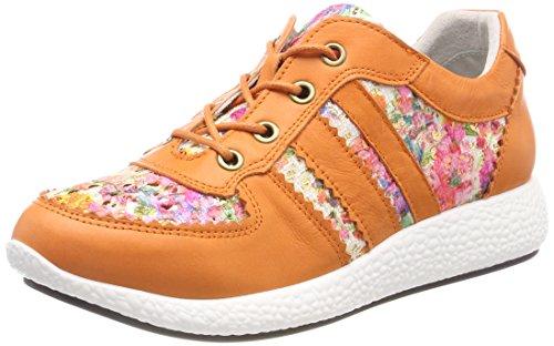 Laura Vita Women's Burton 21 Sneaker, Orange, 7