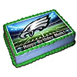 Eagles Personalized Cake Topper 1/4 8.5 x 11.5 Inches Birthday Cake Topper