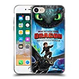 Head Case Designs Officially Licensed How to Train Your Dragon Hiccup & Toothless III The Hidden World Soft Gel Case Compatible with Apple iPhone 7 / iPhone 8 / iPhone SE 2020