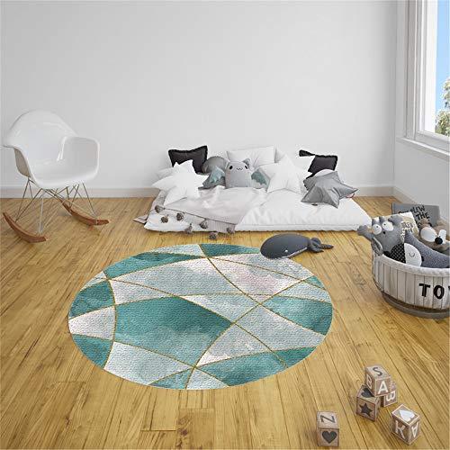 Tapis Rond Lavable en Machine, Morbuy Style géométrique Simple Interieur Anti Slip Chambre à Coucher Salon Tapis d
