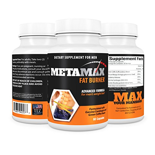 Mens Weight Loss Diet Pills -Formulated for Men with Garcinia Cambogia and Green Coffee Bean -Male Pre Workout Fat Burner- Natural Weight Loss Supplement to Burn Fat not Muscle and Lose Weight Fast