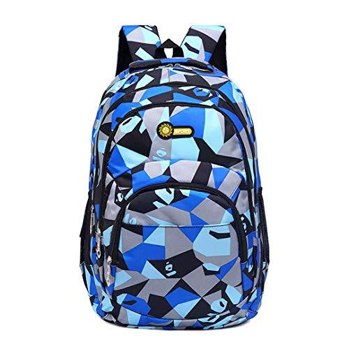 Backpack School Bag Kids School Bags for Teenagers Big Capacity Satchel Kids Book Bag Mochila, Blue (Blue) - RS190812