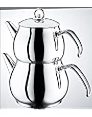 Schillerbach Dzbanek do herbaty mini turecka herbata zestaw do gotowania stal szlachetna 18/10