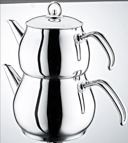 Schillerbach Teekanne Set mini Türkisch Tee Kochset Edelstahl 18/10