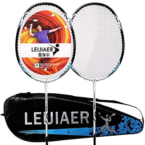 YIXIE Tennisschläger Carbon Composite Badmintonschläger + 2 Schweißbänder Set for Erwachsene WEEXIZHIGUANGLIYA (Color : Color3)