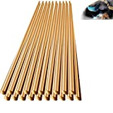 Brass Rod Welding Rods 20 Pcs 1.6mm Copper Electrode Soldering Rod, Brazing Easy Soldering Low Temperature Refrigerator No Need Solder Powder (33cm*1.6mm)