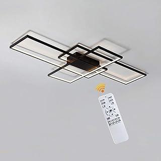 LED Dimmable Plafonnier Salon Lampe Avec Télécommande, Couleur De La Lumière/luminosité Réglable, Moderne Creative Métal A...